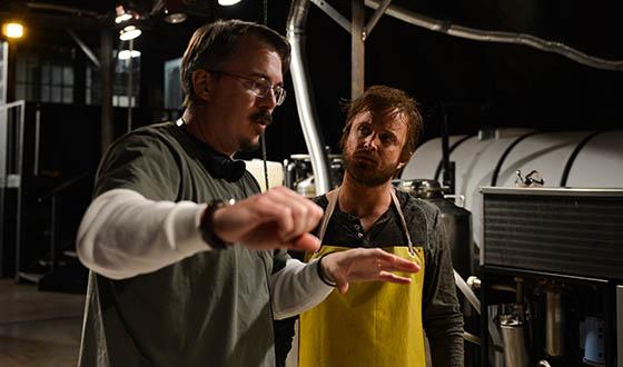 Vince Gilligan and Aaron Paul. Source: AMC