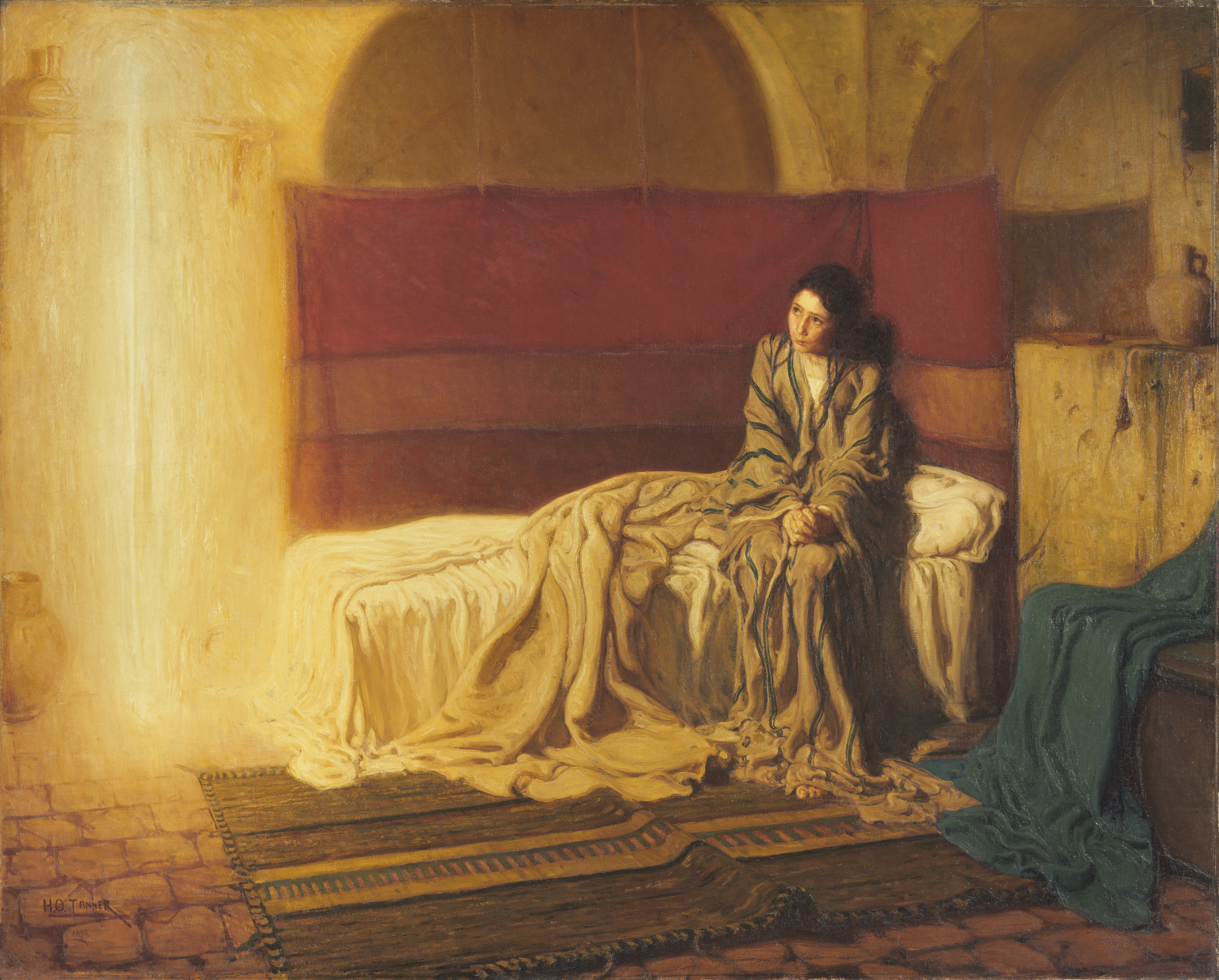 The Annunciation, 1898, Henry Ossawa Tanner, American (Philadelphia Museum of Art, Purchased with the W. P. Wilstach Fund, 1899)