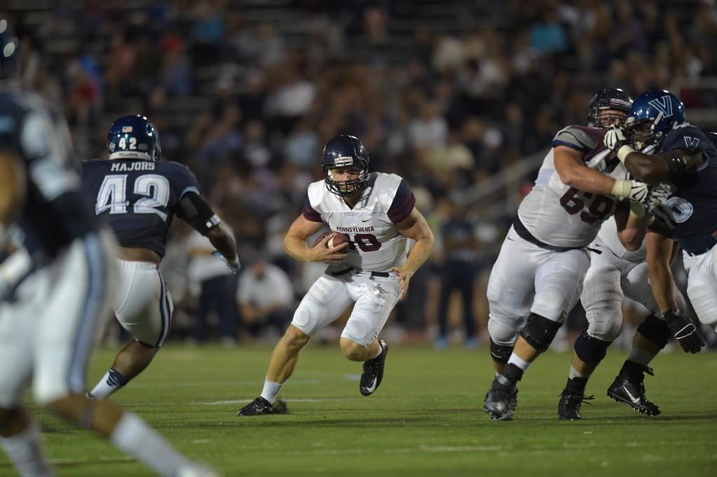 Junior quarterback Alek Torgersen threw two touchdown passes and had a few good runs too (Penn Athletics).