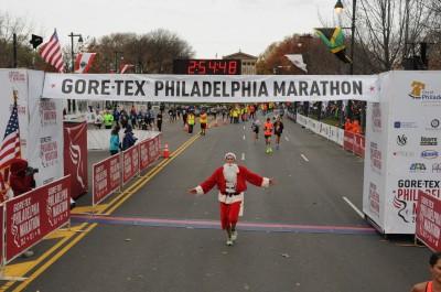 Philly Marathon finish line 2
