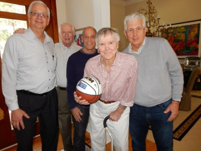 From left to right, John Hellings, Charly Fitzgerald, Jeff Neuman, Jack McCloskey and Stan Pawlak.