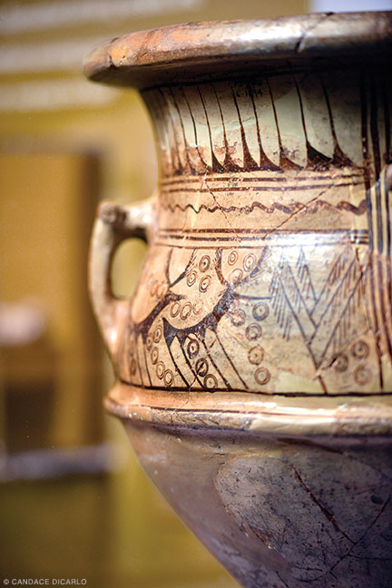 Ceramic krater, ninth-eighth century BCE; its distinctive painted decoration was rare in Gordion.