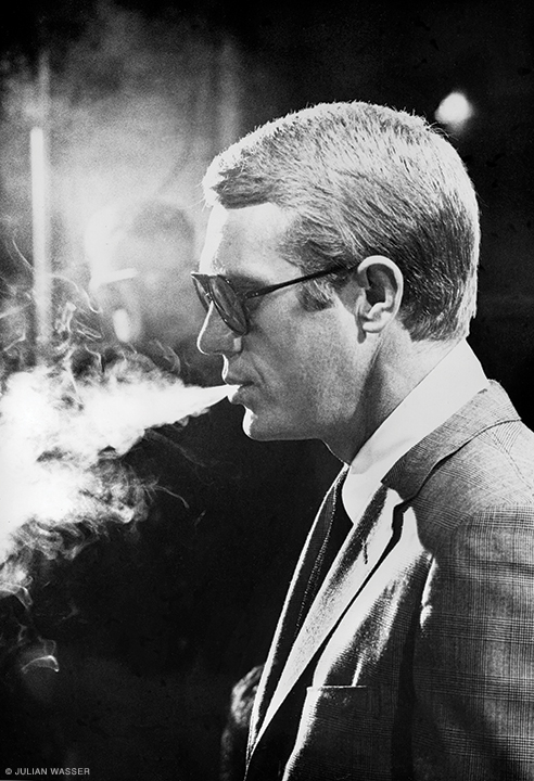 Steve McQueen on the set of Love with the Proper Stranger (1963, Time).