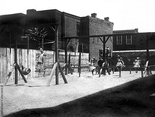 Settlement house playground.
