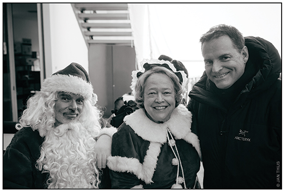 On the Bad Santa 2 set with Billy Bob Thornton and Kathy Bates.