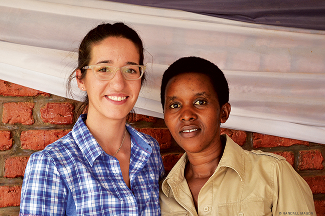 PennPraxis team-member Laura Lacombe (left) with Rachel Murekatete, CNLG's manager for the Nyamata memorial.