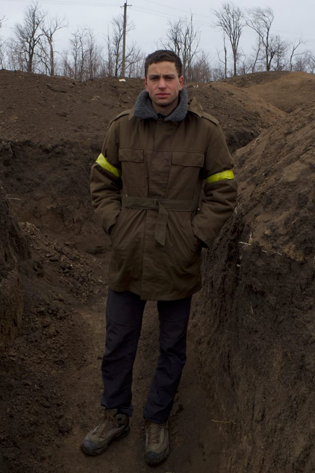 Journalist Christopher Allen. Photo credit: The War Zone Freelance Project.