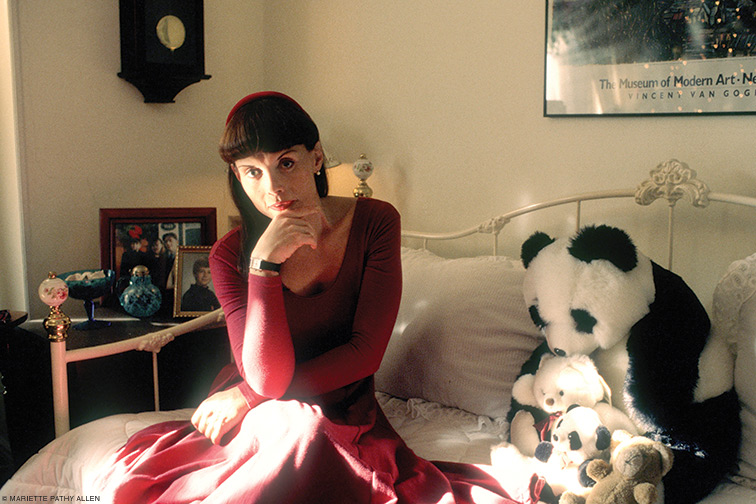 """""""Antonia, alone at Christmas, NYC."""" 1993. From The Gender Frontier."""