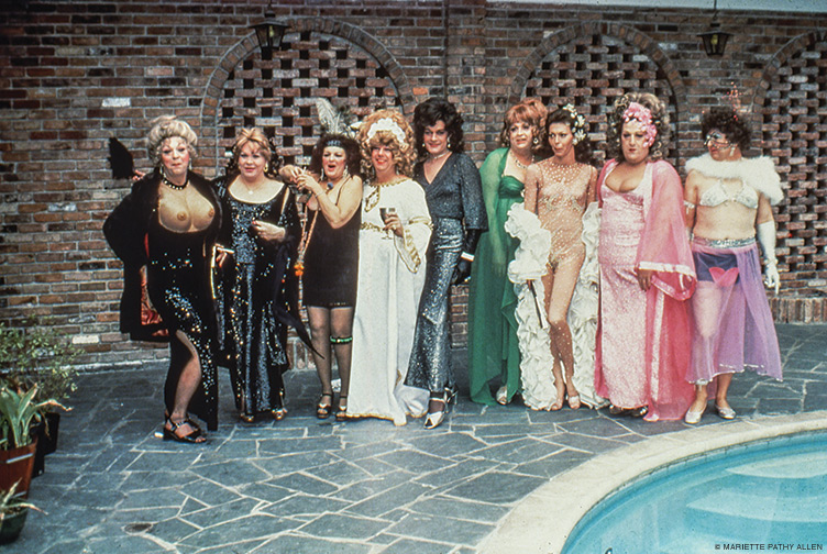 """""""The gathering I met on the last day of Mardi Gras in New Orleans."""" 1978."""