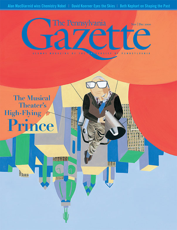 """November/December 2000 cover image, titled """"The Musical Theater's High Flying Prince."""""""