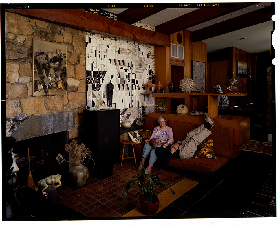 The Weisses in their East Norriton home, 1991. Photo by Ralph Liberman.