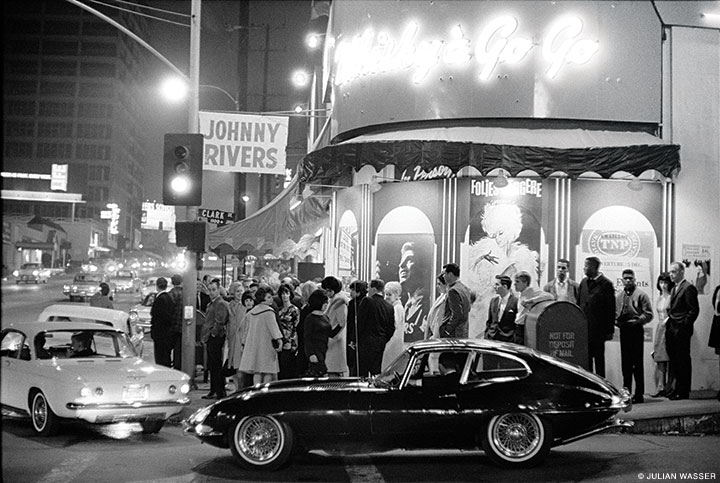 Goin' to à Go Go: Cool fans and hot cars at the Whisky à Go Go (1964, Life).