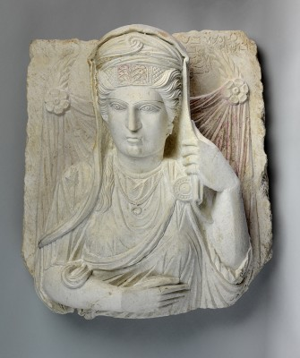 Dating to the 1st and 2nd centuries, funerary portraits like this one demonstrate the complexity and richness of Palmyrene identity.