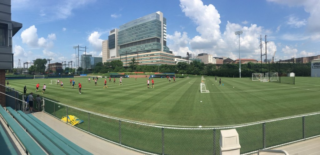 A scenic look at the U.S. national team at Rhodes Field (Penn Soccer).
