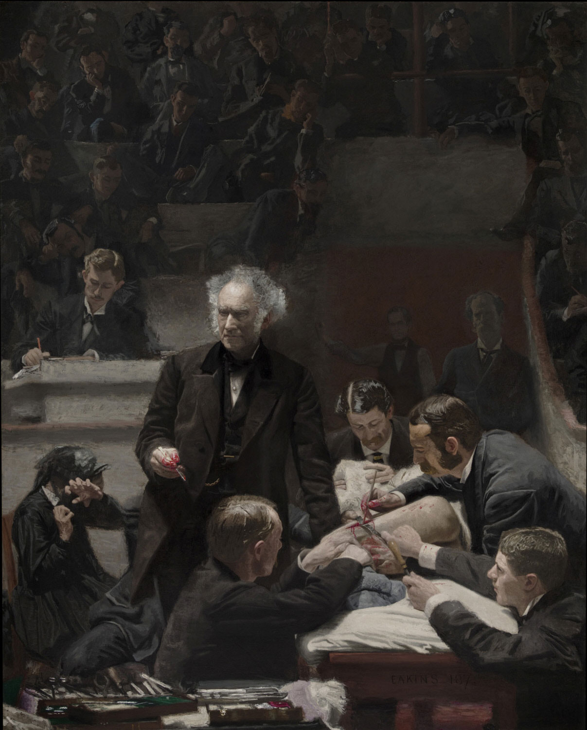 The Gross Clinic by Thomas Eakins, 1875.
