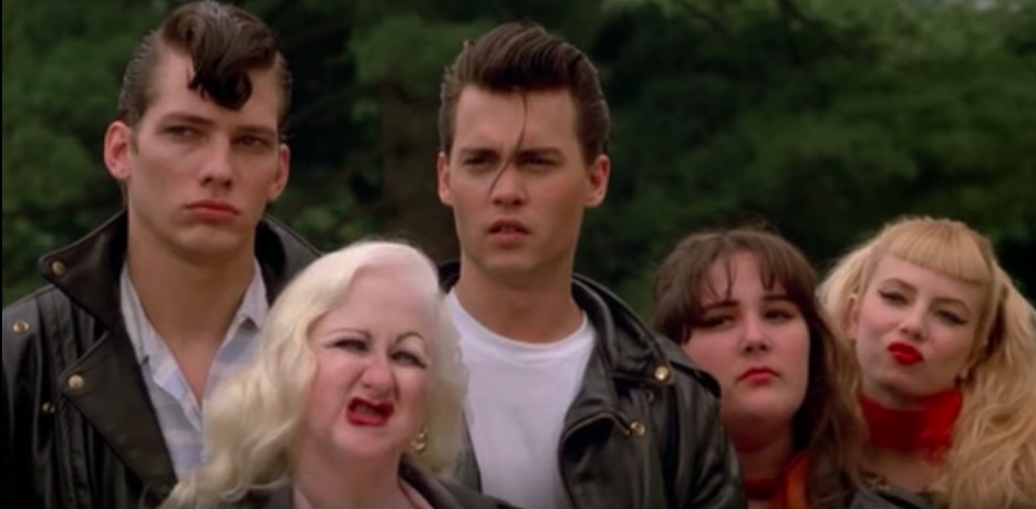 The cast of Crybaby including Hatchetface, second from left.