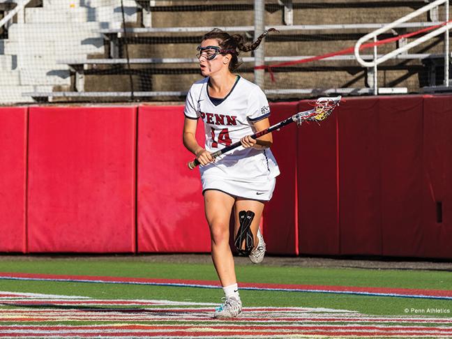 Lacrosse standout Zoe Belodeau.