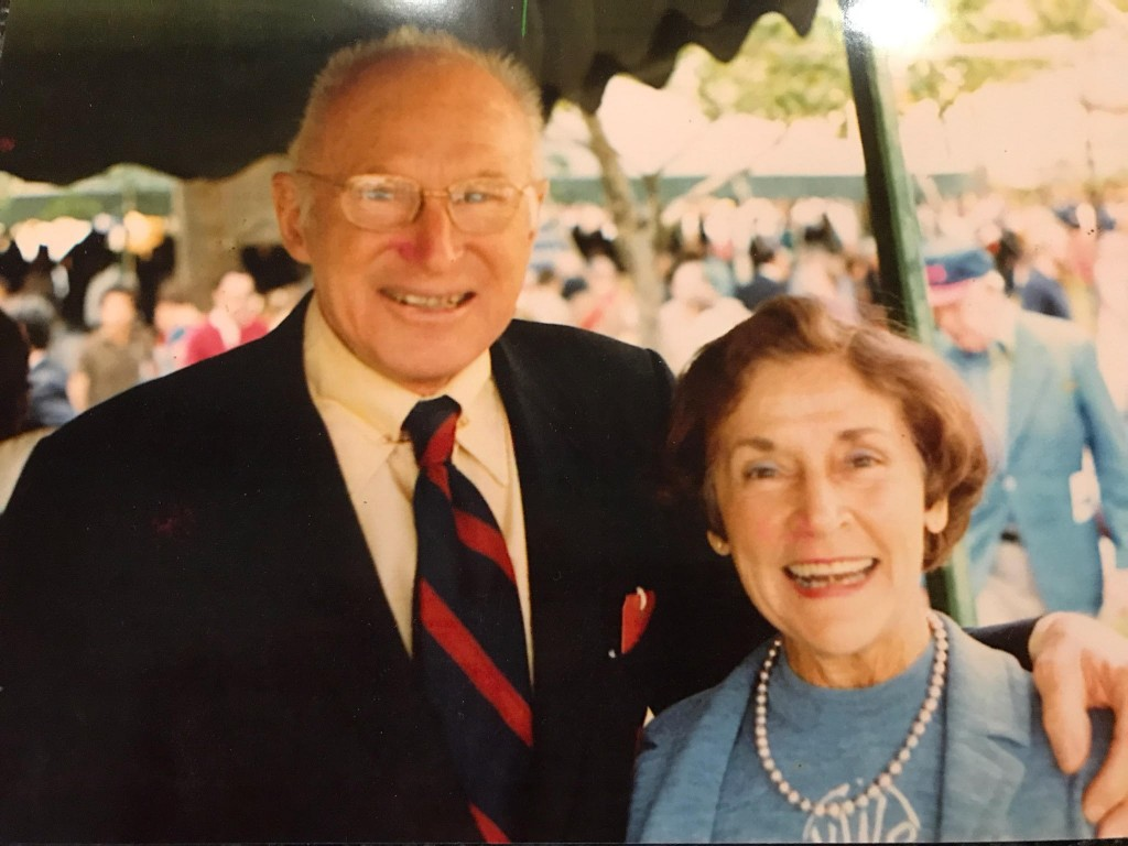 George Munger with his wife Viola, at Penn (courtesy of Andrea Wieland)
