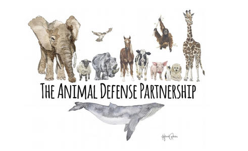 ADP logo with name and different types of animals
