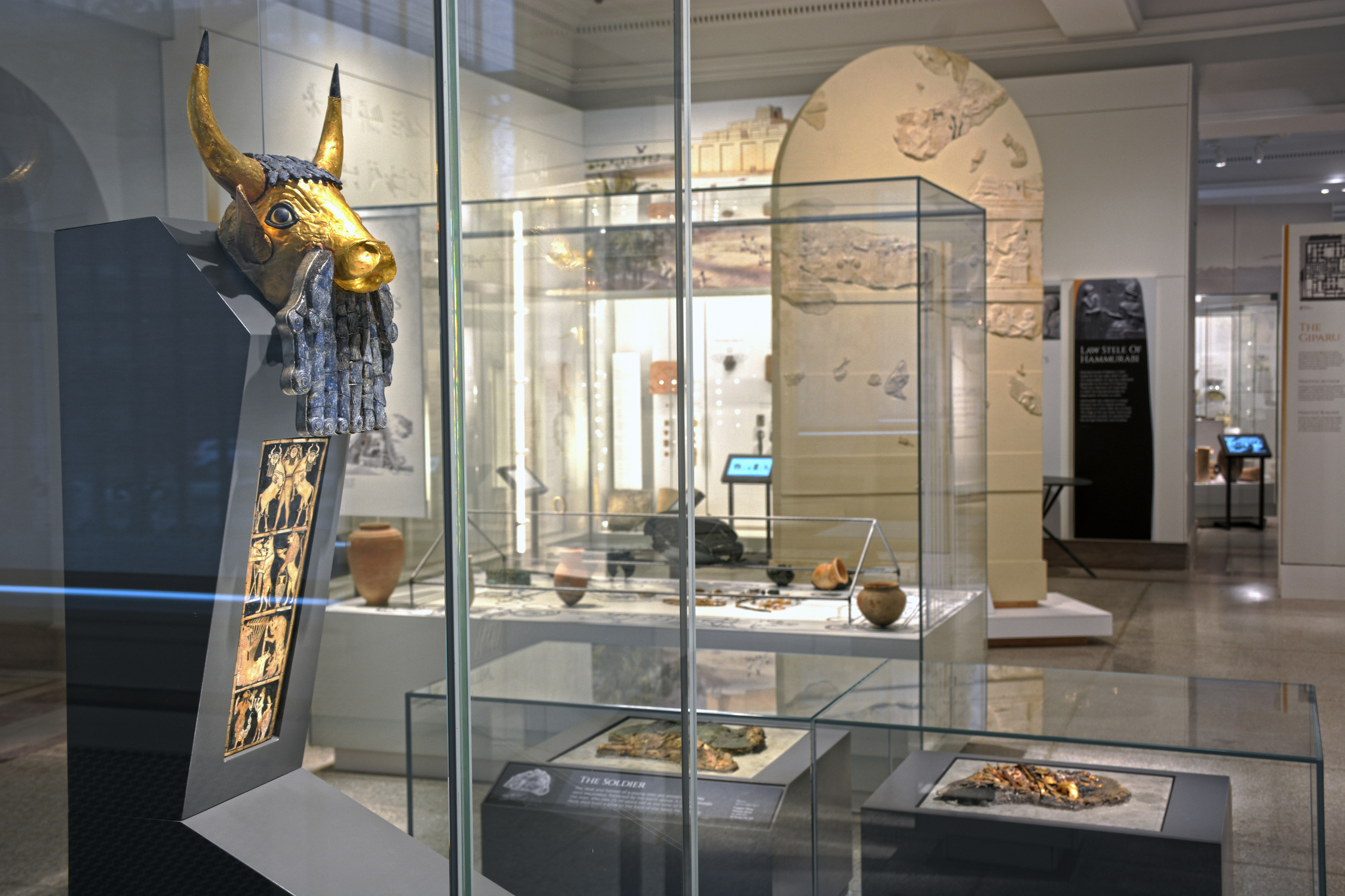 The new Middle East Galleries at the Penn Museum.