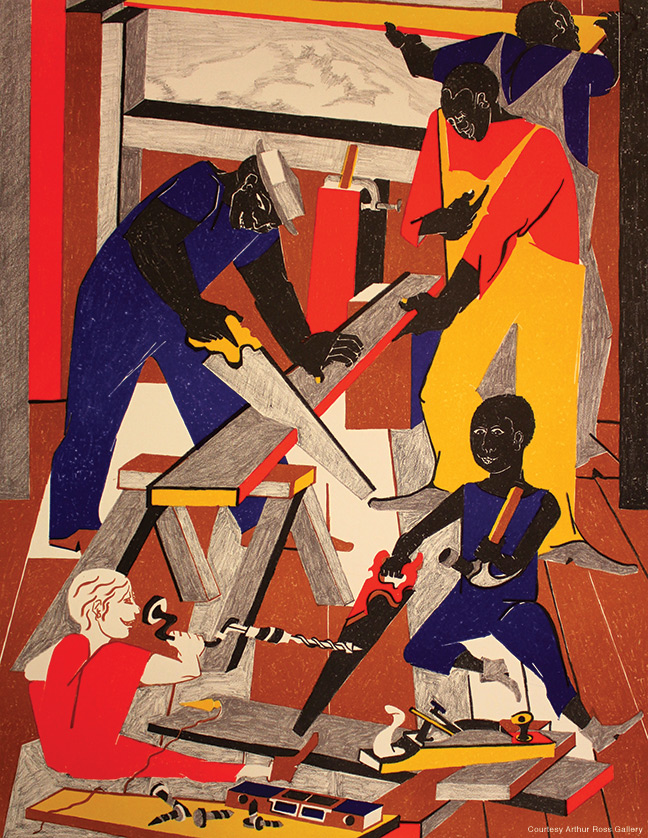 The Workshop by Jacob Lawrence.