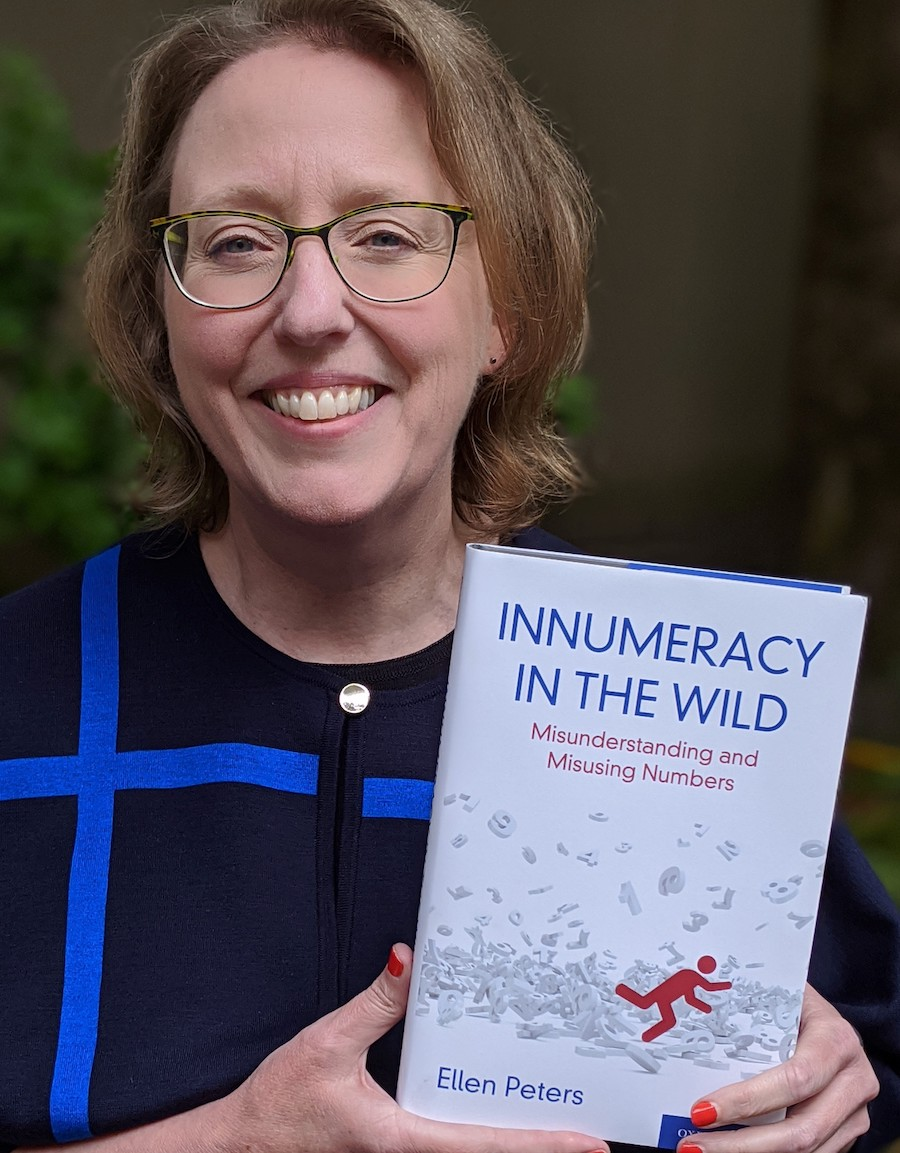 Ellen Peters EAS'89 W'89 holds up her new book.
