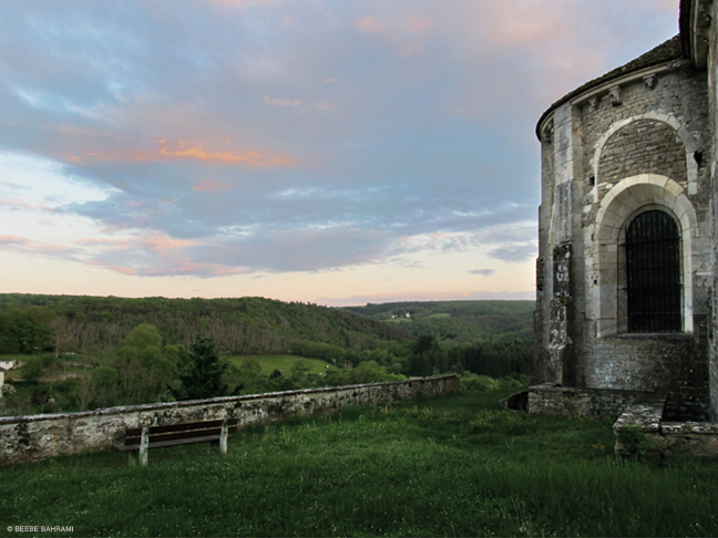 Photo from Avallon's upper rampart wall overlooking the Morvan Forest