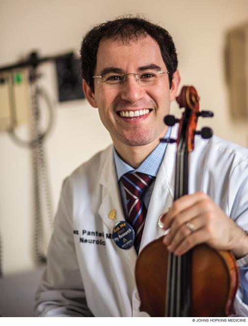 Photo of Alexander Y. Pantelyat with his violin