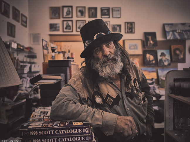 Photo of shopkeeper by Ethan Pines