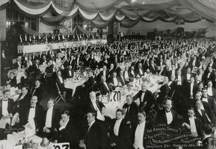 Photo of the Penn Alumni Society Dinner, 1909