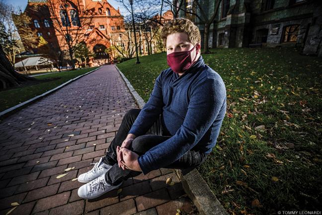 Photo of Ben Platt on Penn campus