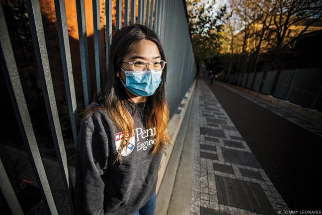 Photo of Phuong Vu on Penn campus