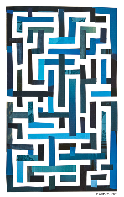 Collage of a maze