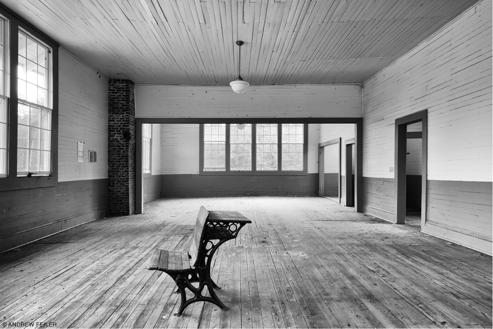 Interior photo of Emory School, Hale County, Alabama