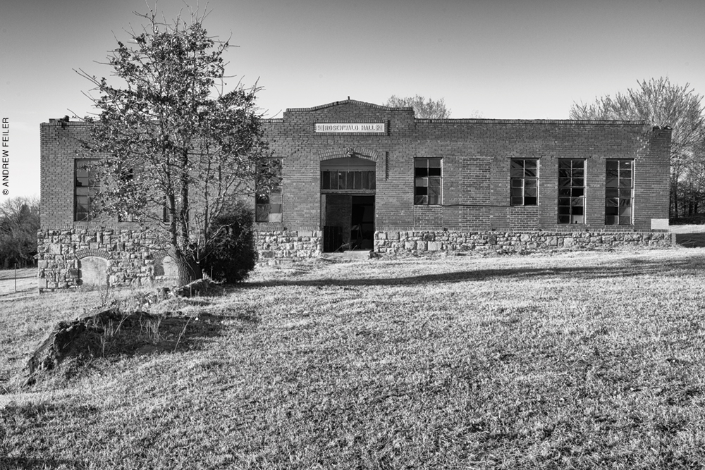 Exterior photo of Rosenwald Hall, Seminole County, Oklahoma