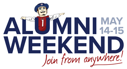 Logo for Alumni Weekend May 14-15 2021