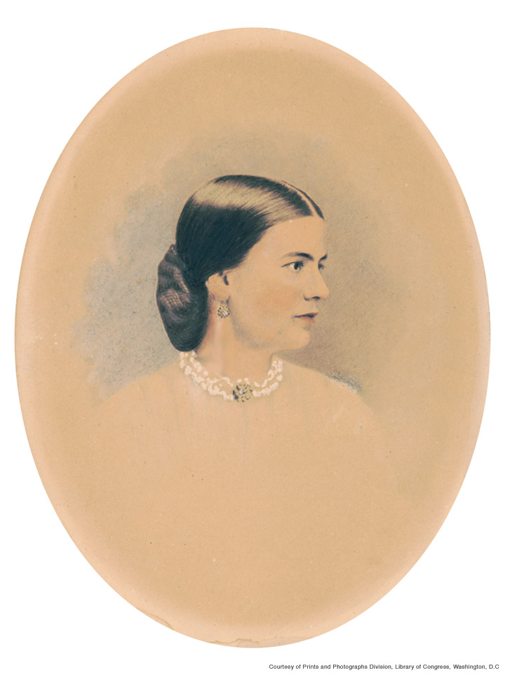 Ellen Arthur by Charles Milton Bell, reproduction after the original 1870-1880 hand-tinted albumen print.
