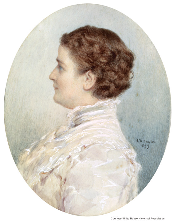 Painting of Ida Saxton McKinley by Emily Drayton Taylor, 1899.
