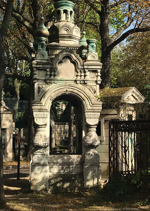 Photo of entrance to Père Lachaise cemetery
