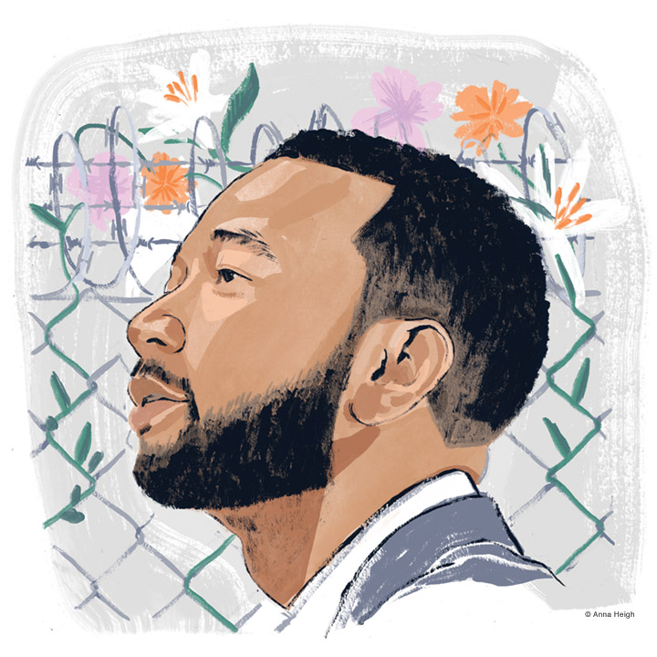 Illustrated portrait of John Legend