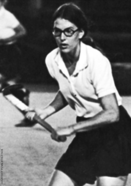 Photo of Julie Staver playing field hockey