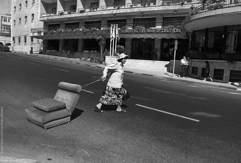 Woman with a couch, Alex Levak. Jerusalem, 1996. Photograph Courtesy Penn Libraries.