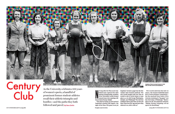 Thumbnail image of the feature spread from the print edition