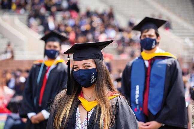 Photo of graduating seniors at Penn commencement ceremony 2021