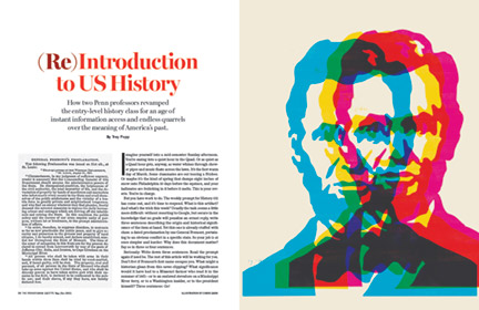 Opening spread from print version