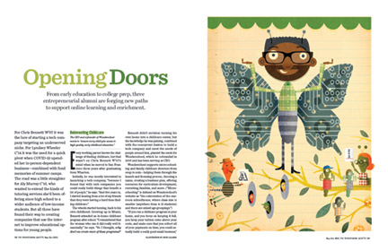 Opening print spread for this feature