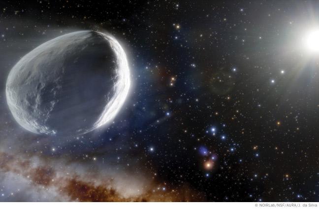 Artist's rendering of the Bernardinelli-Bernstein comet.