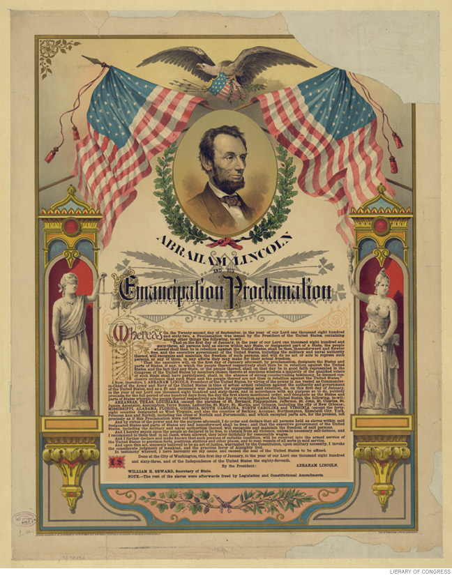 Reproduction of Abraham Lincoln's Emancipation Proclamation