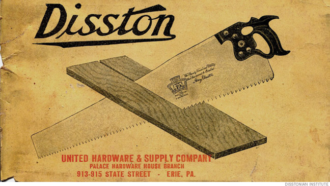Cover of a 1914 Disston brochure.